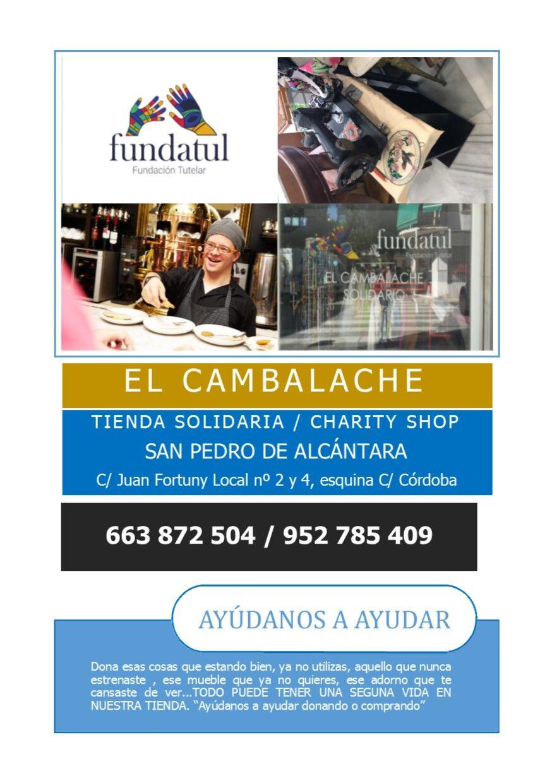 Tarjeta publicidad El Cambalache. Ref. Cena Lírica 2017. Actualizado