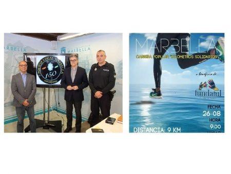 """Celebramos el 150 Aniversario de la Policía Local de Marbella con Fundatul y """"Kilómetros Solidarios"""", 26 de Agosto en Marbella."""